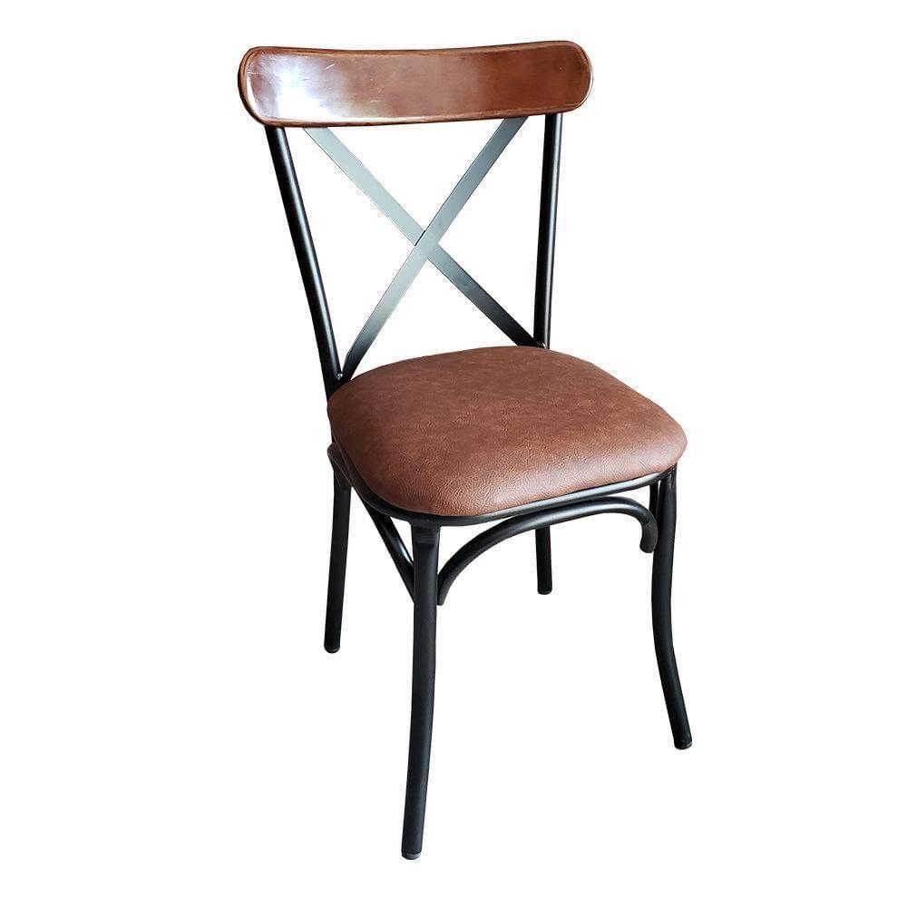 Ghế sắt cafe bọc nệm