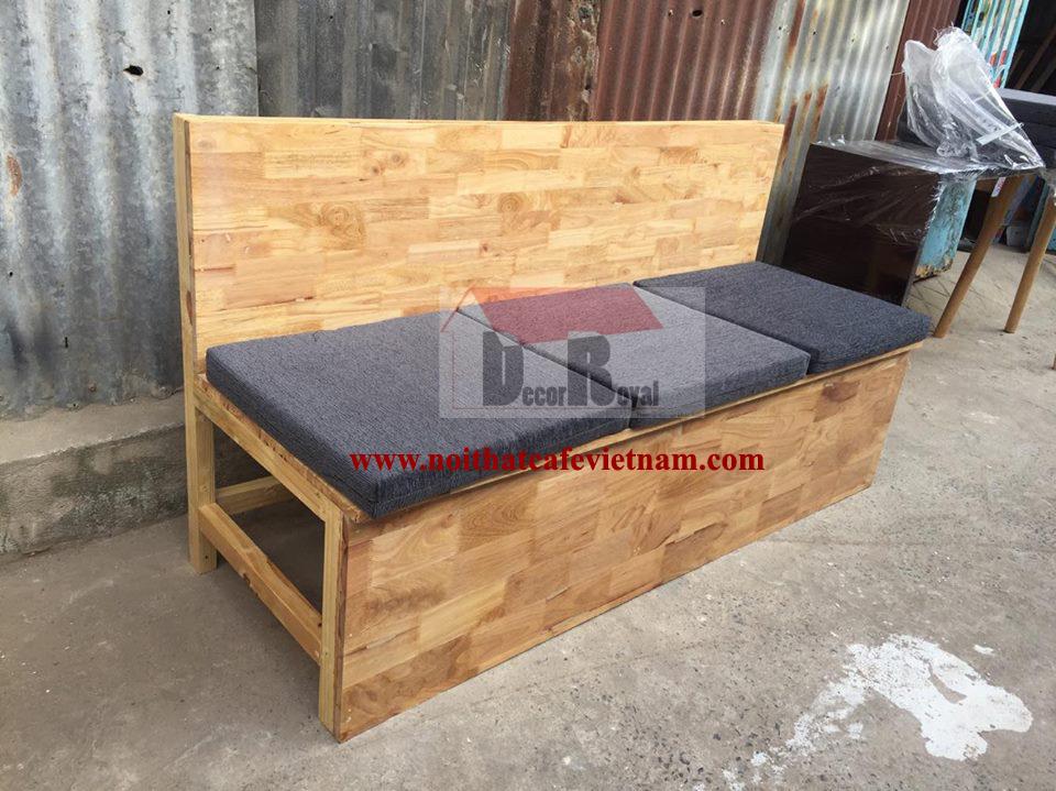 Ghế sofa bục gỗ tự nhiên