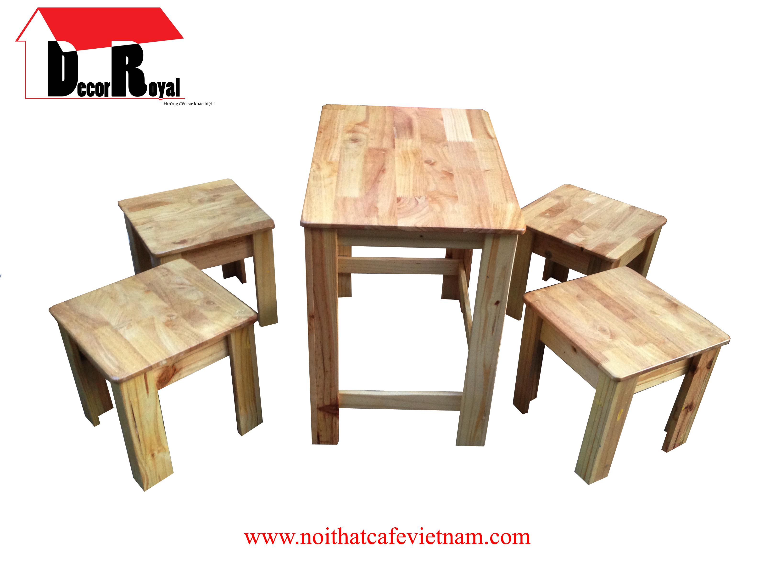 Bộ bàn ghế cóc gỗ cao su
