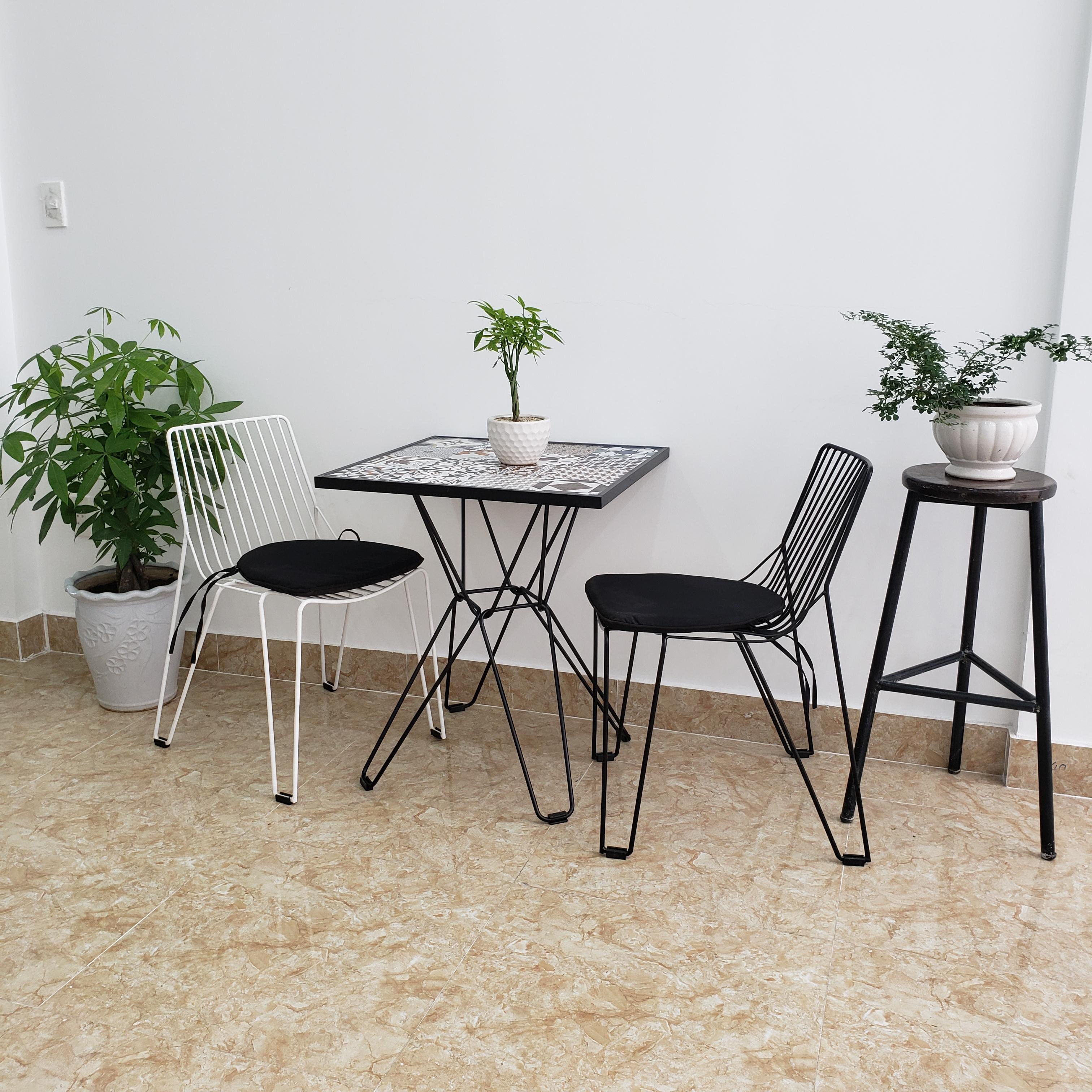 Bộ bàn ghế cafe sắt đẹp