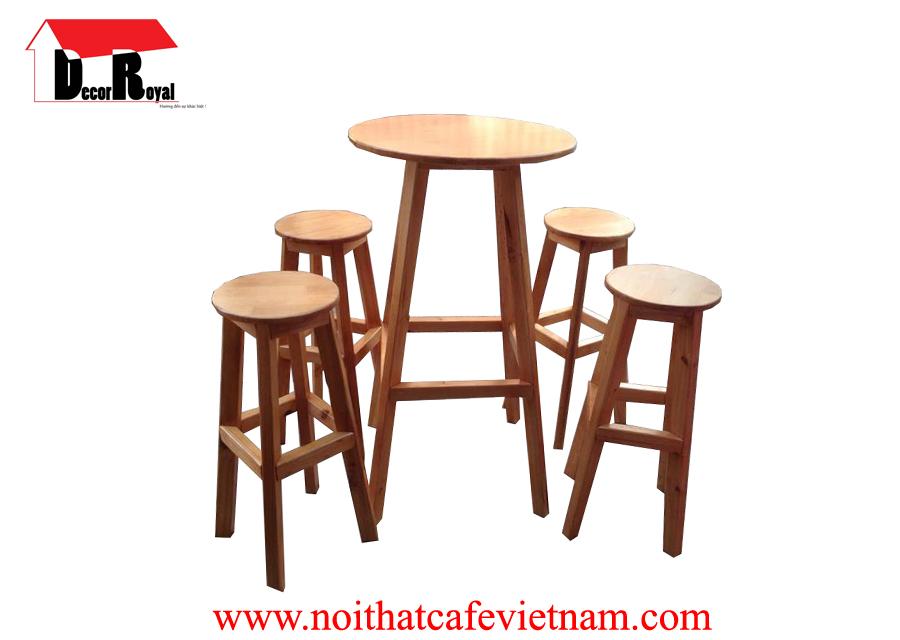 Bộ bàn ghế bar tròn