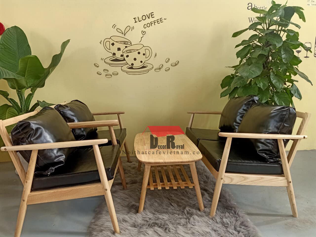 Sofa cafe giá rẻ gỗ ash