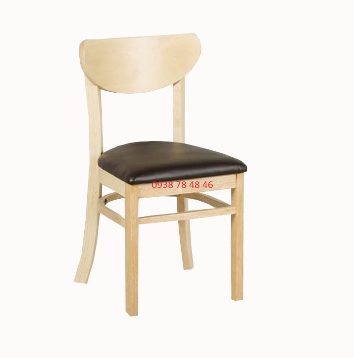Ghế gỗ cafe có nệm