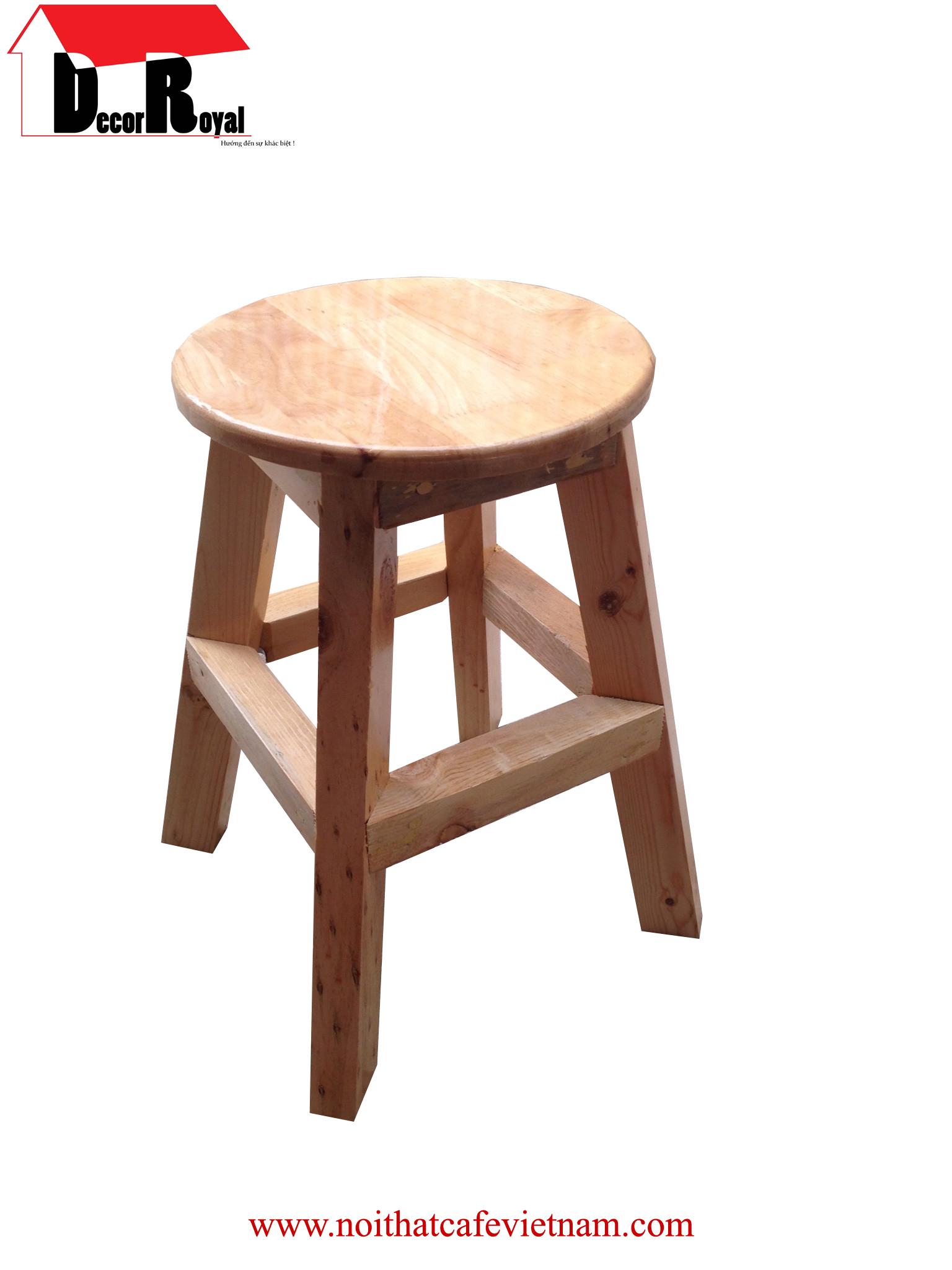 Ghế gỗ tròn