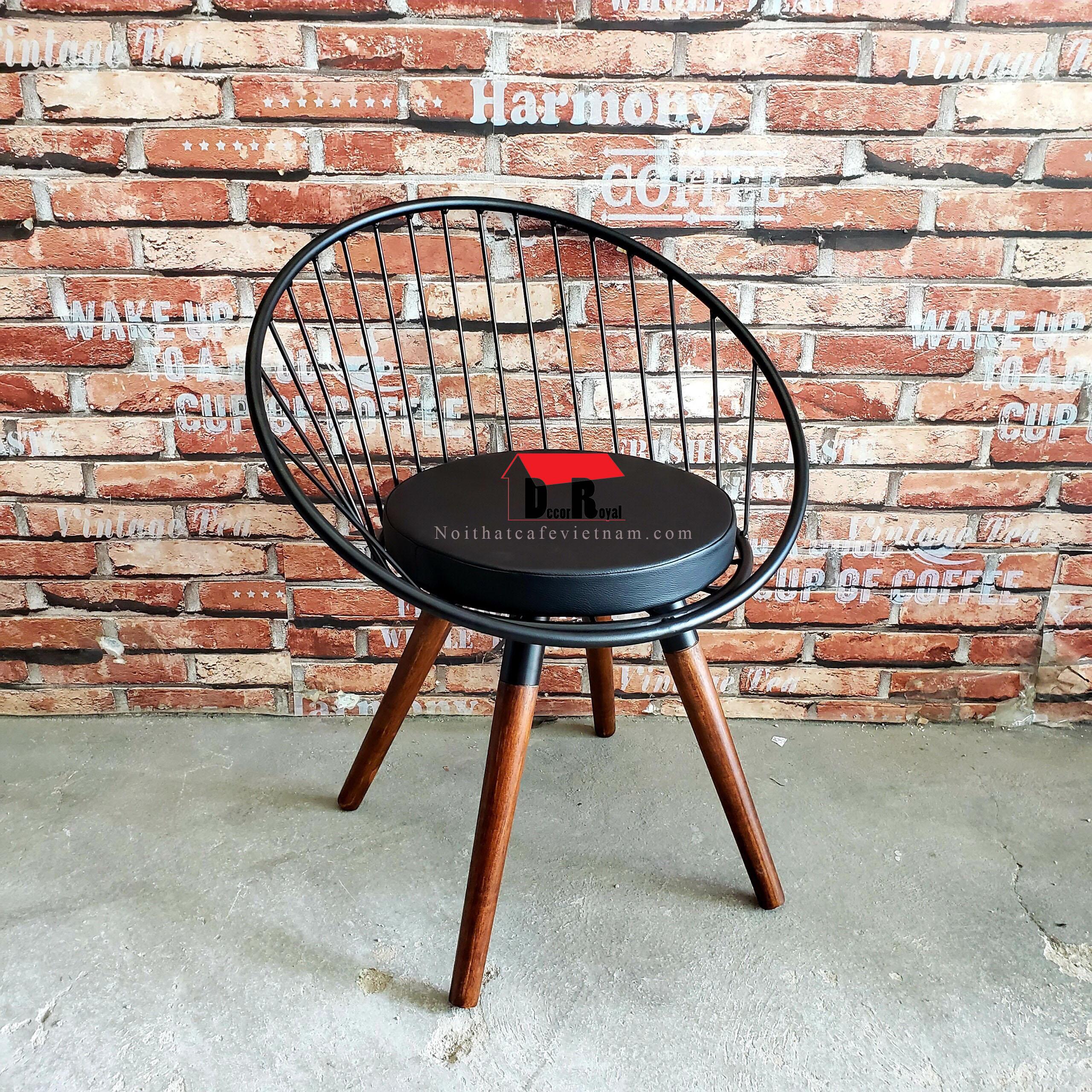 Ghế sắt nón cafe