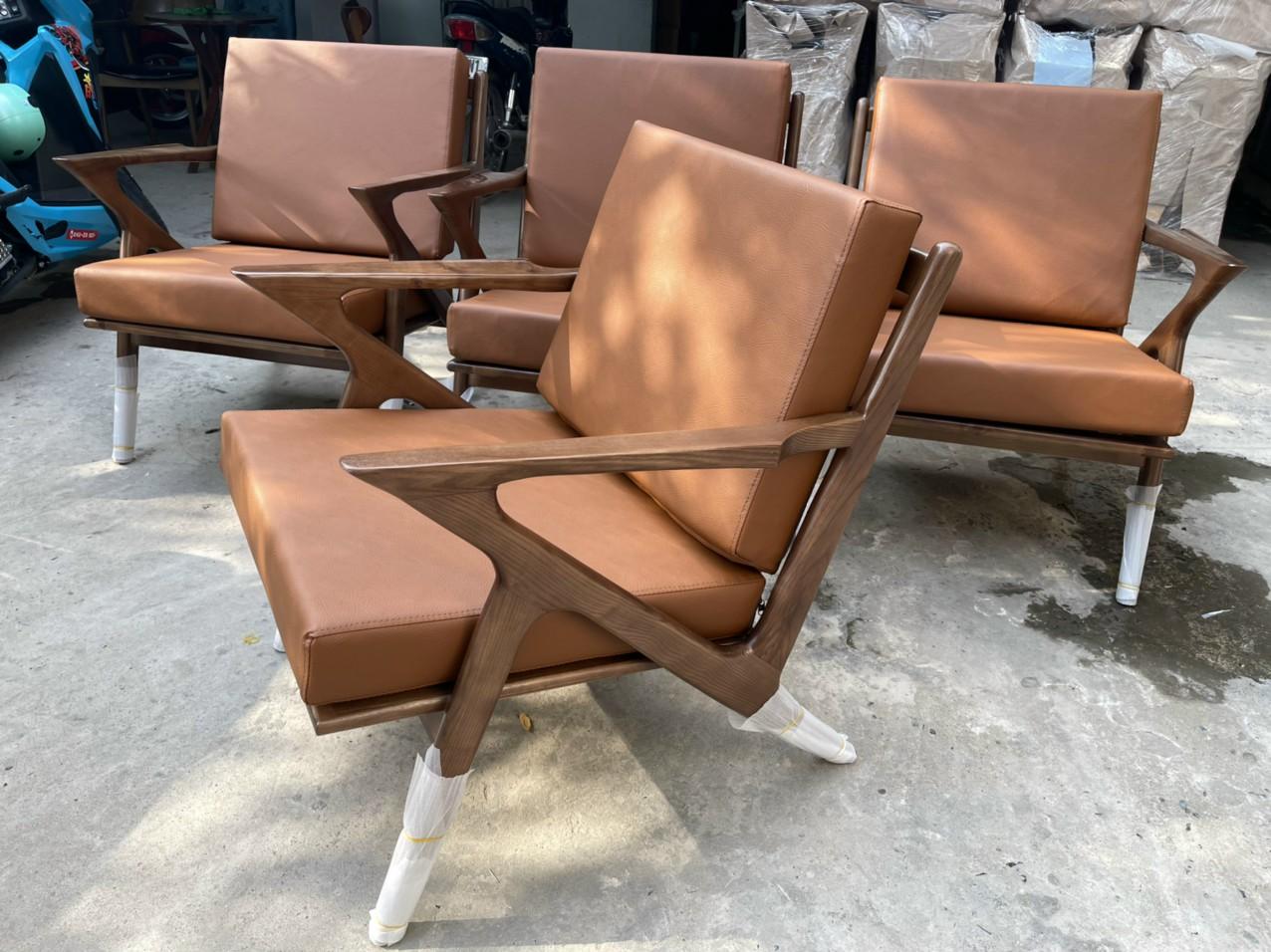 Sofa cafe chữ Z gỗ ash